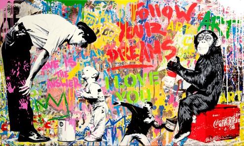 Pop Wall by Mr. Brainwash - Original on Canvas